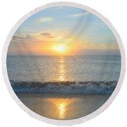 May 23 Sunrise Round Beach Towel