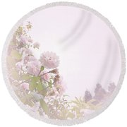 Round Beach Towel featuring the photograph May Basket Day by Cindy Garber Iverson