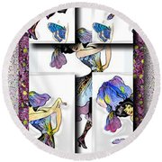 May Day Dancer Round Beach Towel