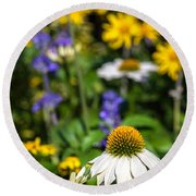 Round Beach Towel featuring the photograph May Flowers by Steven Sparks