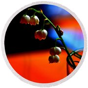 Round Beach Towel featuring the photograph May Flowers by Susanne Van Hulst