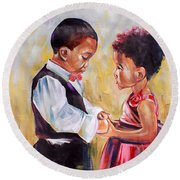 May I Have This Dance? Round Beach Towel