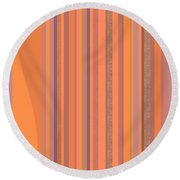 May Morning Vertical Stripes Round Beach Towel