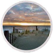 May Sunrise  Round Beach Towel