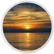 April Sunset Round Beach Towel