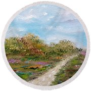 May The Road Rise Up To Meet You Round Beach Towel