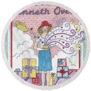 May Your Cup Runneth Over Round Beach Towel