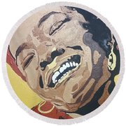 Maya Angelou Round Beach Towel