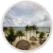 Mayan Beach Round Beach Towel