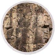 Mayan Hieroglyphics Round Beach Towel