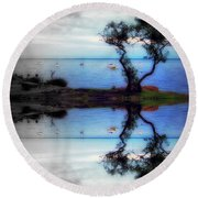 Maybe You'll Be There II Round Beach Towel