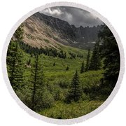 Mayflower Gulch Round Beach Towel
