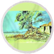 Mayorcan Tree Round Beach Towel