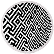 Round Beach Towel featuring the photograph Maze Print by Rebecca Harman