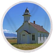 Mcallister Church Round Beach Towel