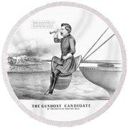 Mcclellan The Gunboat Candidate Round Beach Towel
