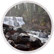 Mccloud Middle Fall Round Beach Towel