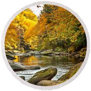 Mcconnell's Mill State Park Round Beach Towel by Skip Tribby