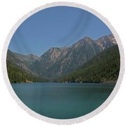 Mcdonald Lake- Ronan Montana Round Beach Towel