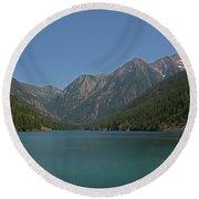 Mcdonald Lake- Ronan Montana Round Beach Towel