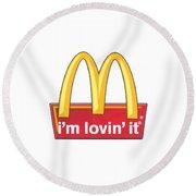 Mc Donalds T-shirt Round Beach Towel