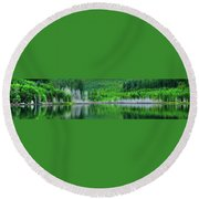 Mcguire Reservoir P Round Beach Towel