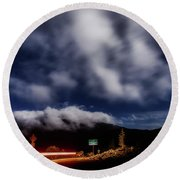 Round Beach Towel featuring the photograph Mckenzie Pass by Cat Connor
