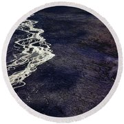 Mckinley River From The Air Round Beach Towel