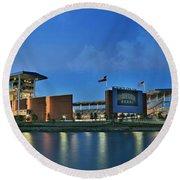 Mclane Stadium -- Baylor University Round Beach Towel