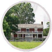 Mclean House Appomattox Court House Virginia Round Beach Towel