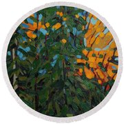 Mcmichael Forest Wall Round Beach Towel