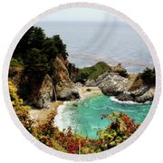 Mcway Falls 2 Round Beach Towel