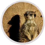 Me And My Shadow Round Beach Towel by Martin Newman