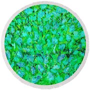 Meadow Flowers Round Beach Towel