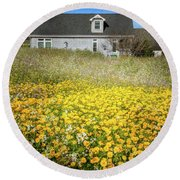 Meadow House Round Beach Towel