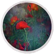 Meadow In Another Dimension Round Beach Towel