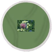 Meadow Perfume Round Beach Towel