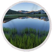 Meadow Reflections  Round Beach Towel