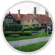 Meadowbrook Hall Round Beach Towel
