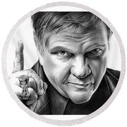 Meat Loaf Round Beach Towel