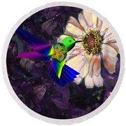 Mecha Whirlygig Round Beach Towel by Iowan Stone-Flowers