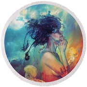 Medea Round Beach Towel
