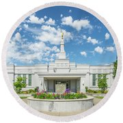 Medford Temple Front Round Beach Towel