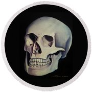 Medical Skull  Round Beach Towel