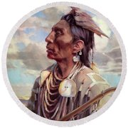 Medicine Crow Round Beach Towel