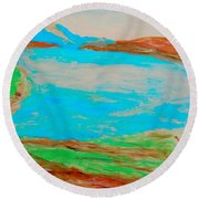Medicine Lake Round Beach Towel
