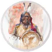 Medicine Man Round Beach Towel