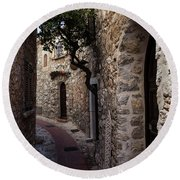 Medieval Eze Village In France Round Beach Towel