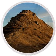 Medieval Proshaberd Fortress On The Top Of The Hill, Armenia Round Beach Towel by Gurgen Bakhshetsyan