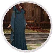 Medieval Queen Round Beach Towel